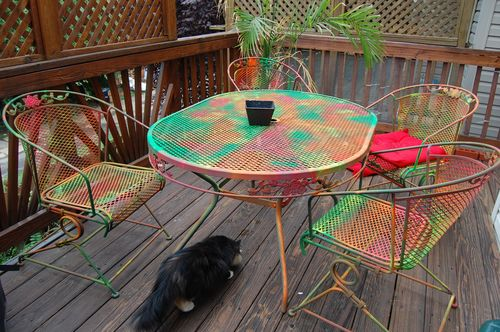 Painted deck furniture